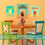 Retro Iced Drinks Wall Decals