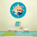 1950s Style Mom's Diner Wall Decal