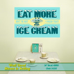 Eat More Ice Cream Wall Decal