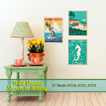 Beach & Waterskiing Wall Decals