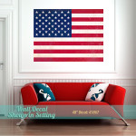 48-inch US Flag decal