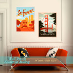 San Fran Bridge & Trolley Wall Decor Decals