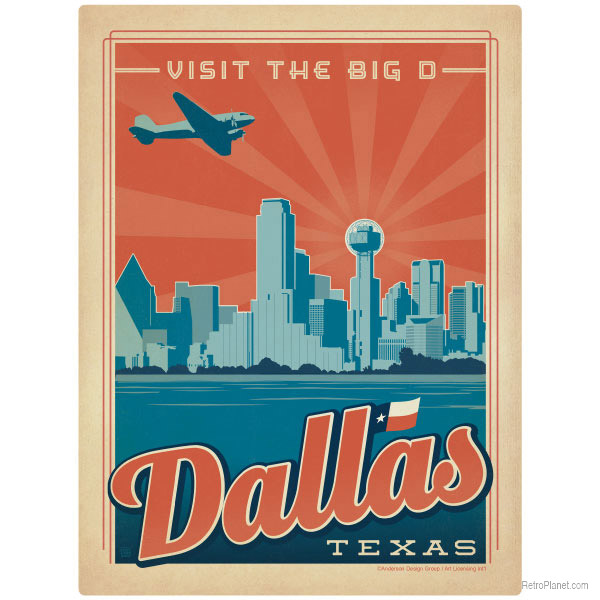 Dallas Travel Wall Decor