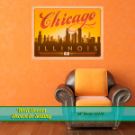 Chicago Retro Style Wall Art Decal