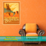 Boston Destination wall decal in setting.