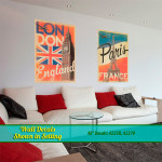 London & Paris Wall Decals