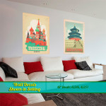 Moscow & Beijing Wall Decals