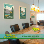 Rocky Mountain & Olympic National Parks Wall Decals