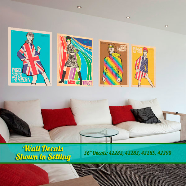 Retro Modern Fashion Wall Decals