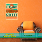 I Love Grits Wall Decal