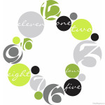 Circles Clock Wall Decal Set