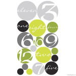 Circles Clock Wall Decal Design Sheet