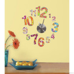 Retro Patchwork Flowers Clock Decorating