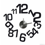 Black Numbers Wall Clock Decal Set