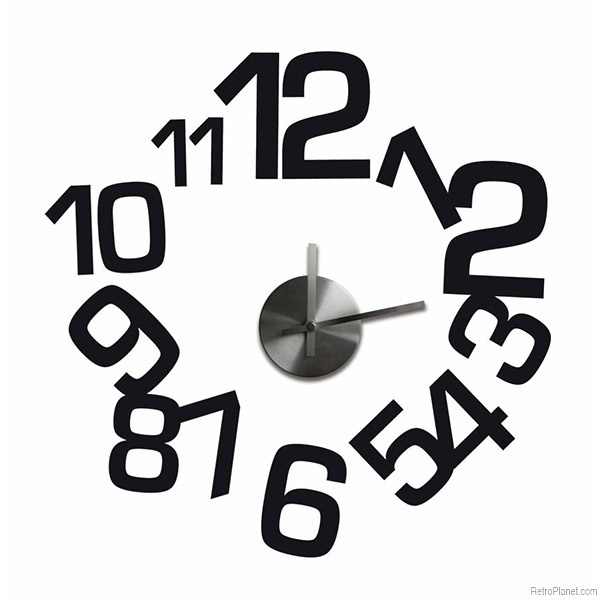 Black Numbers Wall Clock Decal Set  sc 1 st  Vintage Vending - Retro Planet & Wall Decal Clocks Make for Easy Unique Design
