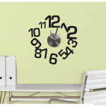 Black Numbers Wall Clock Decal Set Design