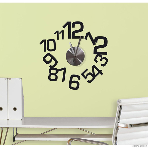 Wall Decal Clocks Make for Easy, Unique Design