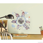 Clock Wall Decal Set Design: Houses at Night