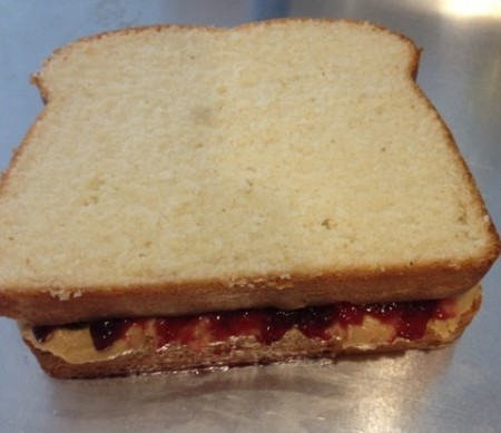 Peanut Butter & Jelly Cakewich