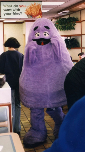 Grimace Appears at McDonald's