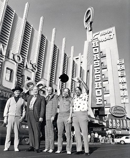 Legendary poker players outside Binion's Horseshoe