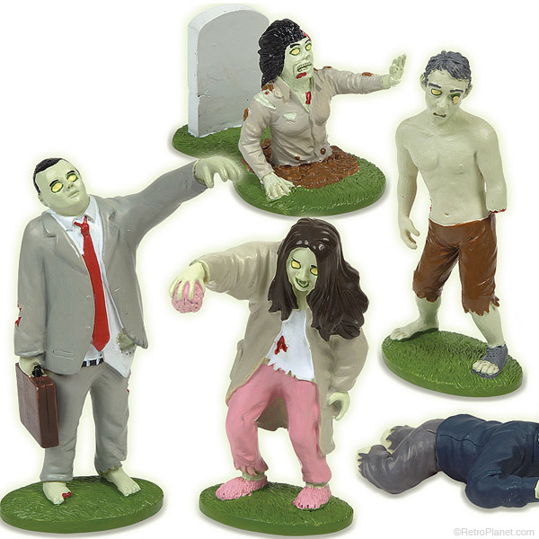 Glow in the Dark Zombie Figures