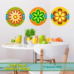 Retro Flowers Wall Decal Set