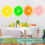 Fruit Slices Retro Wall Decals