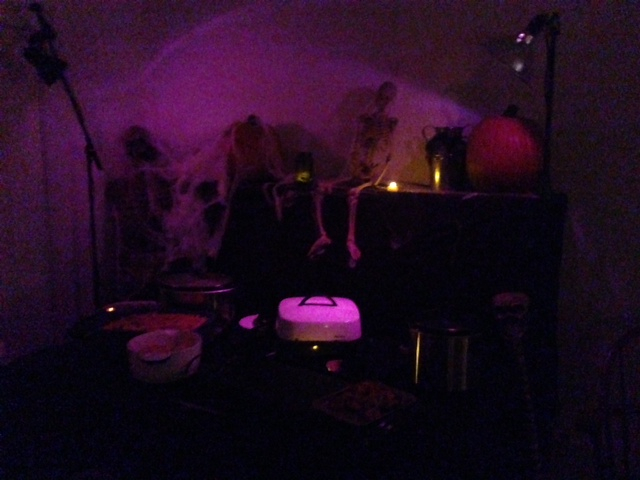 Black Light Food Area