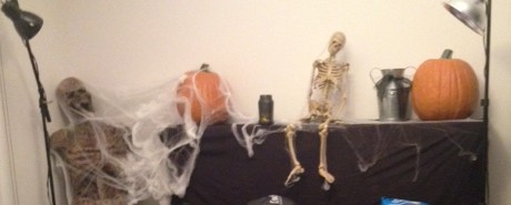 Rotting Corpse, Skeleton and Pumpkins