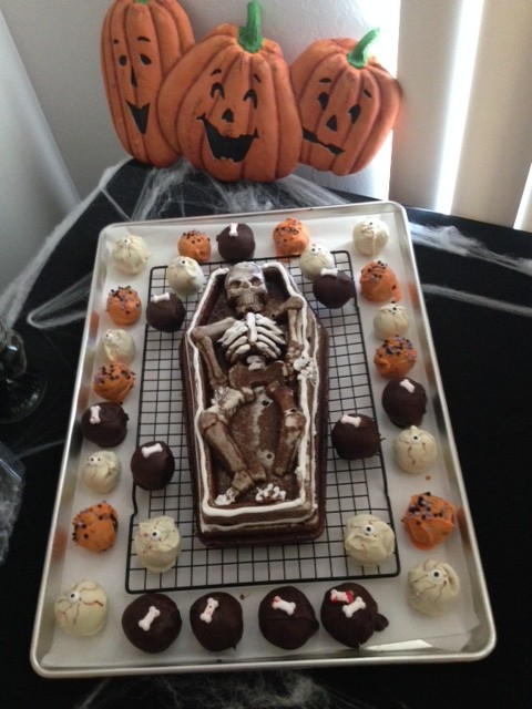 Skeleton in a Coffin Cake