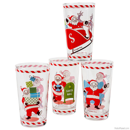 Santa Drink Glasses