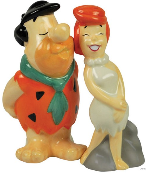 Fred Kissing Wilma Flintstones Shakers