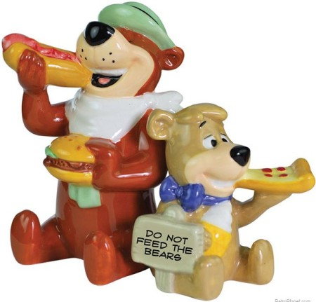 Yogi Bear and Boo-Boo Eating Shakers