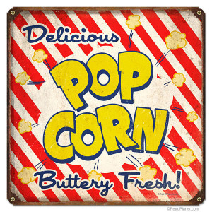 Buttery Fresh Popcorn Tin Sign