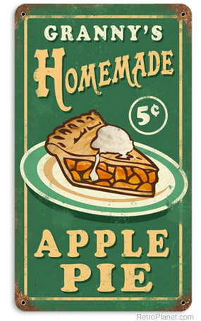 Apple Pie Vintage Tin Sign