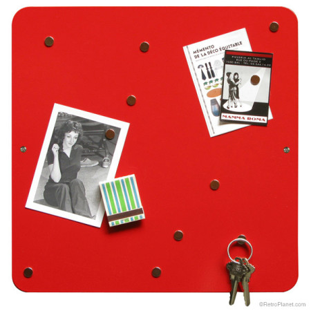 Square Dot ® Bulletin Board in Red