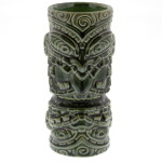 Moko Light Green Tiki Mug