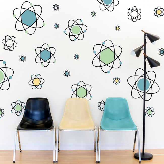 Atomic Symbol Wall Decals
