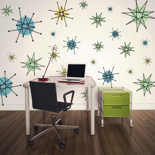 Popular Atomic Starburst Wall Decals