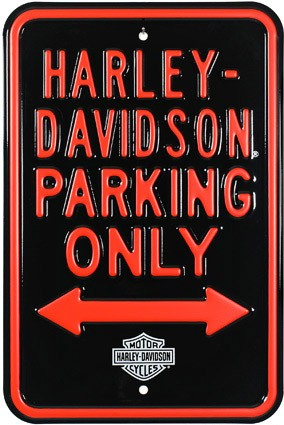 Harley Parking Only Street Sign