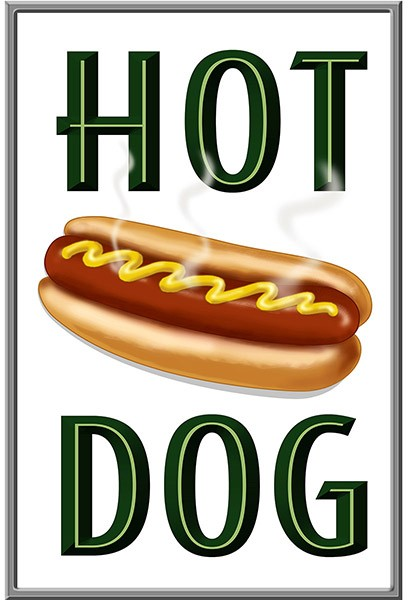 Retro Hot Dog Wall Decal