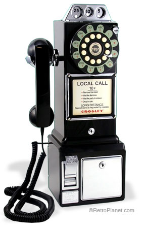Image of 1950s replica PayPhone by Crosley