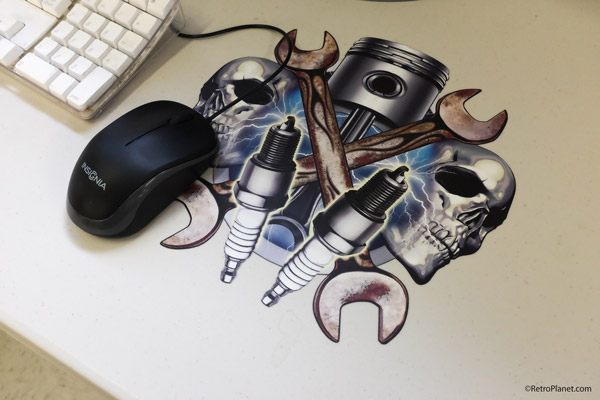 Skulls and Spark Plugs Mousepad
