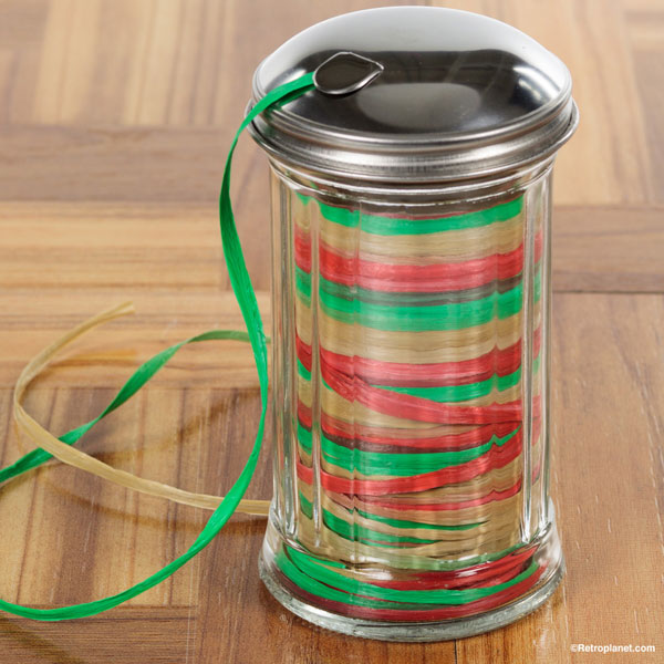 Retro Sugar Dispenser for taming ribbon