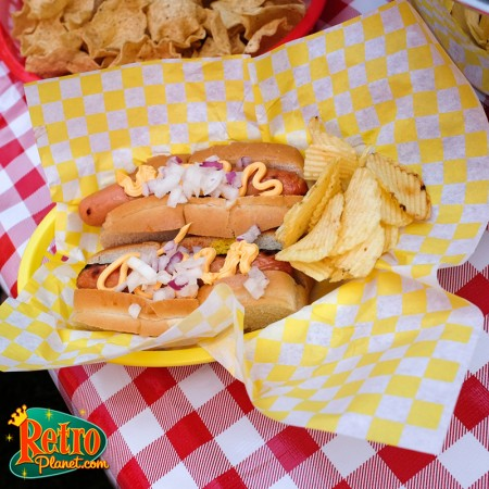 Hot dog with Squeeze cheese and onions!