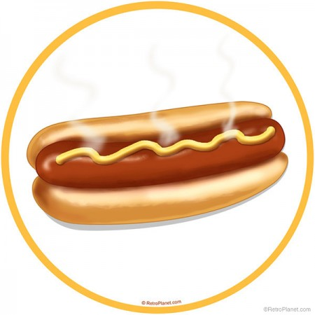Retro Style Hot Dog Wall Decal