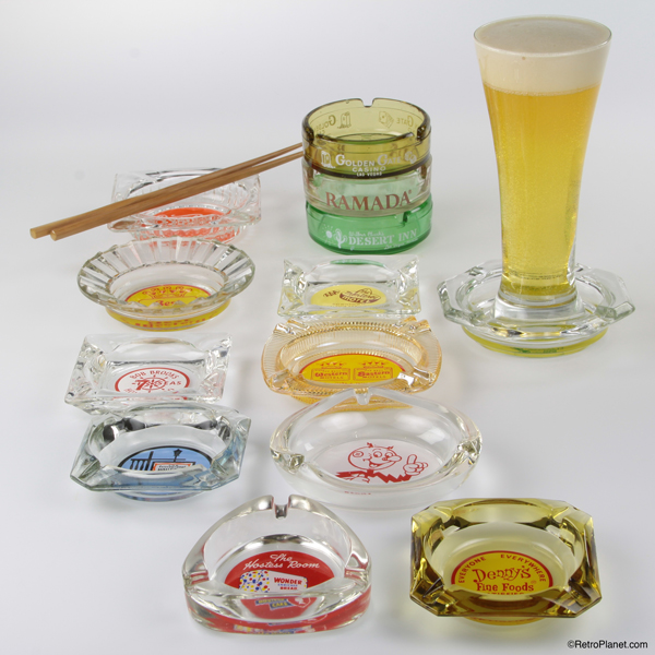 Ashtrays as Coasters and Serving Pieces
