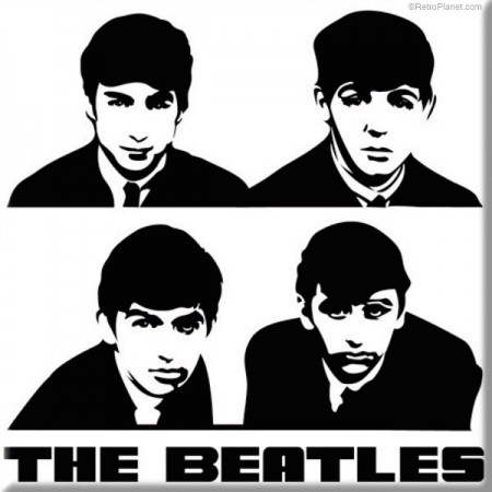 Beatles Portraits Magnet