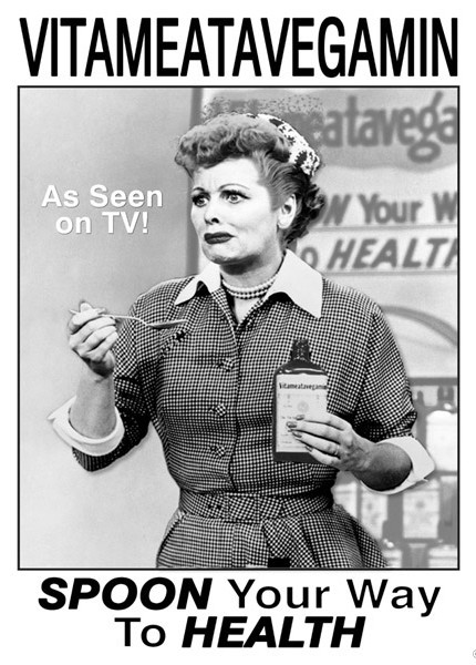 Lucy's TV Commercial Tin Sign